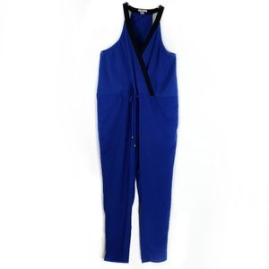 Bar III Royal Blue Sleeveless Jumpsuit Sz Large